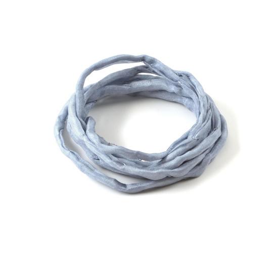 1m Handgefärbtes Habotai Seidenband Violettblau 3mm Seidenschnur 100/% Seide