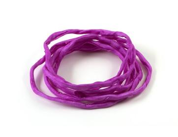 1m handgefärbtes Habotai-Seidenband Radiant Orchid 3mm Seidenschnur 100/% Seide
