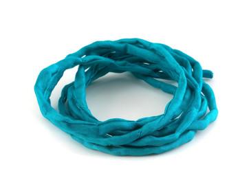 1m Handgefärbtes Habotai Seidenband Pale Turquoise 3mm Seidenschnur 100/% Seide