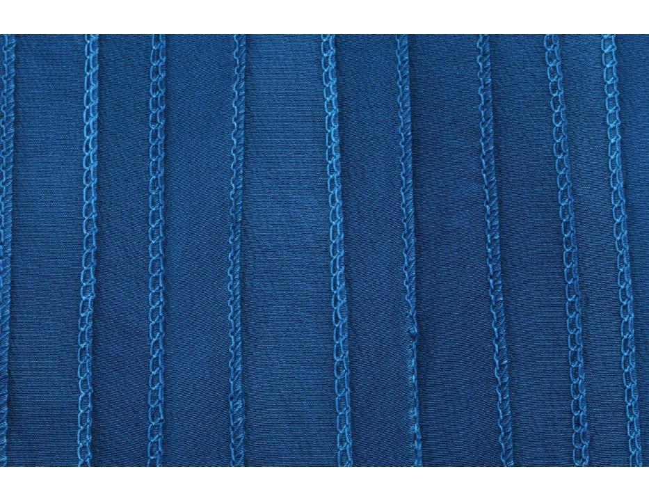 Crêpe de Chine Seidenband Blaugrün handgenäht handgefärbt