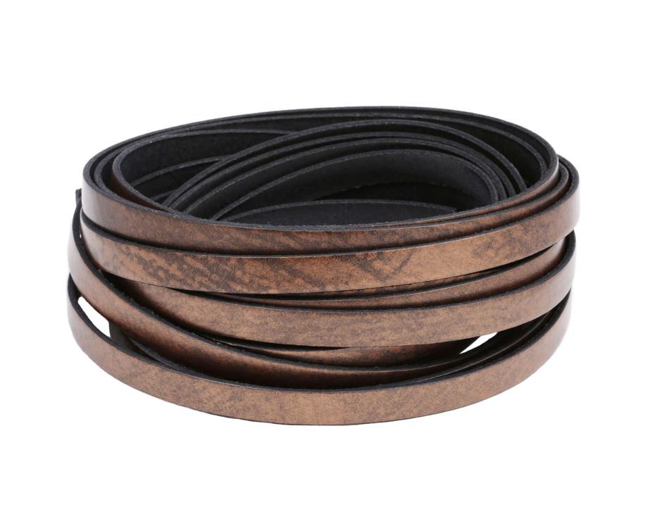 Lederriemen ab 1,08€//m Flach 3 x 1 mm Lederband Länge//Farbe: wählbar
