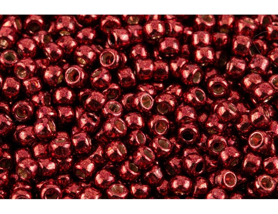 5B Red TOHO 11//0 Rocailles 2,2mm 10g 20g Transparent Rot glänzend Code