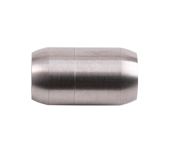 Stainless steel magnetic clasp 25x14mm (ID 10mm) brushed