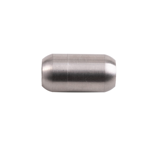 Stainless steel magnetic clasp 19x10mm (ID 6mm) brushed