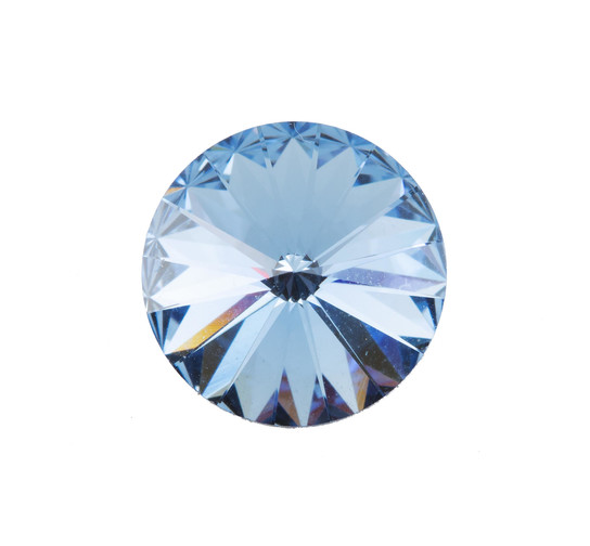 Swarovski® Crystals Rivoli Chaton light sapphire, 12mm