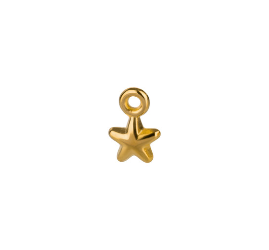 Mini-Pendant Star gold 5mm 24K gold plated