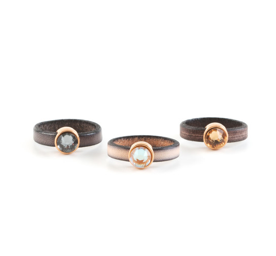 Slider mit Flatback Amethyst 7mm (ID 5x2mm) rose gold